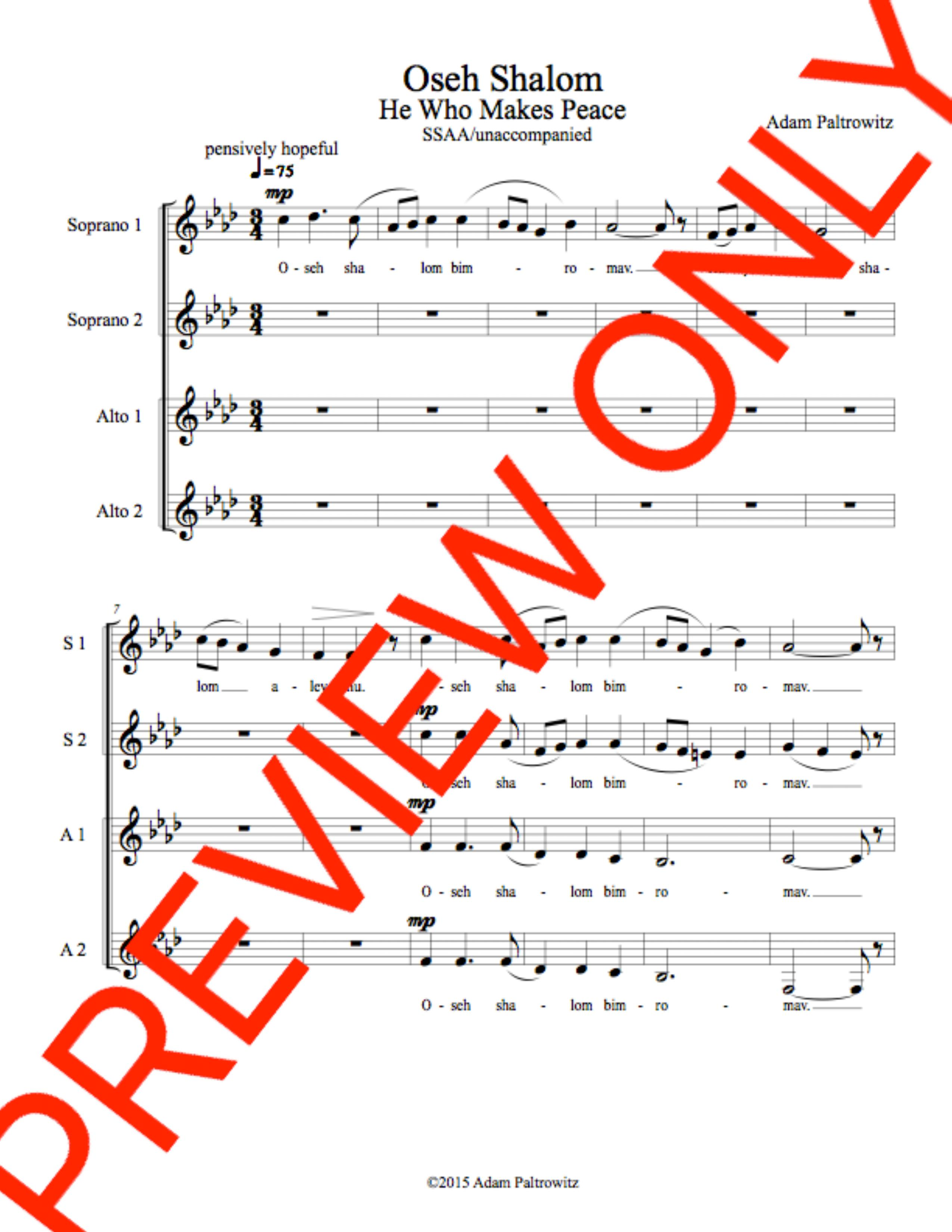 Choral Sheet Music, Choral Resources, Instant Download - Choral Clarity