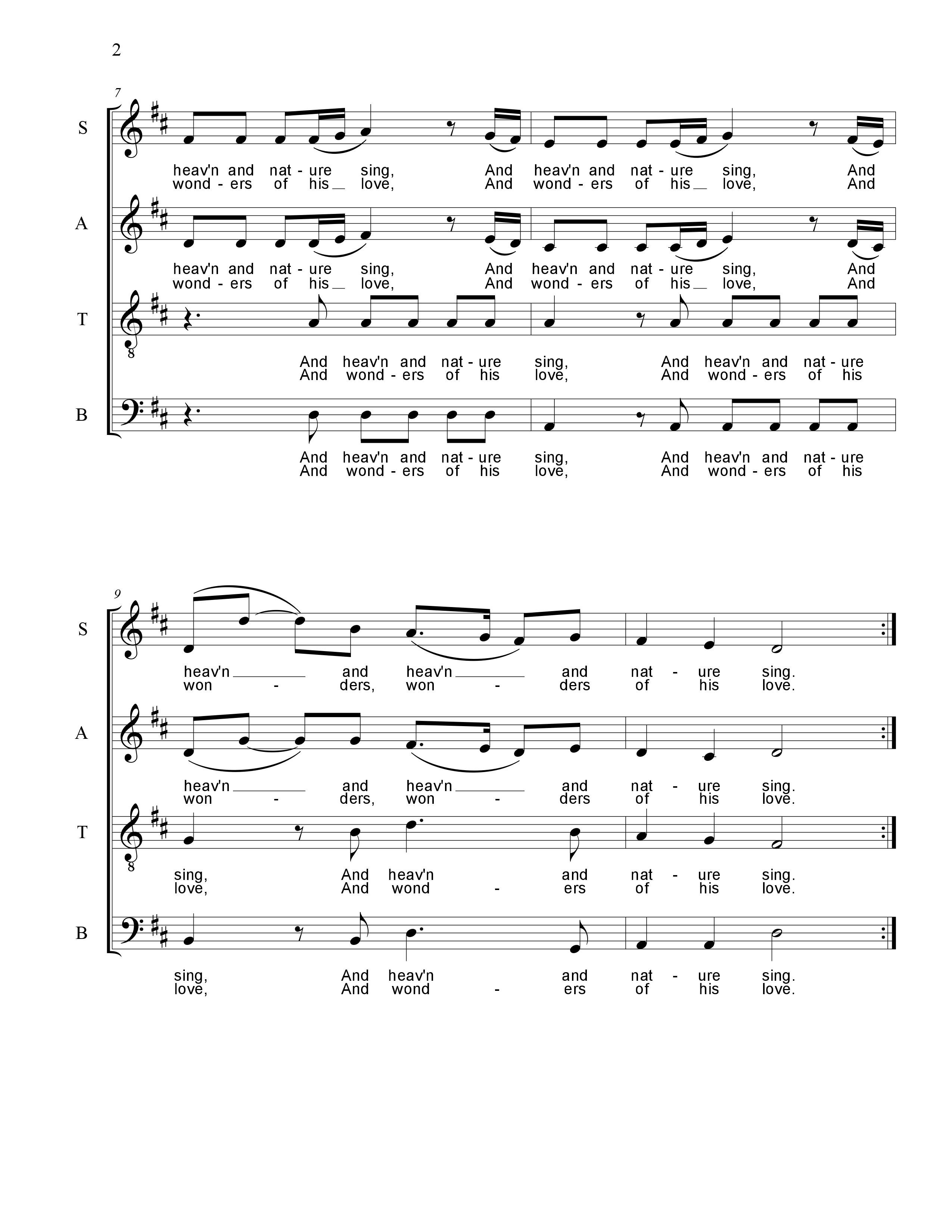 Joy To The World (SATB) - Choral Clarity