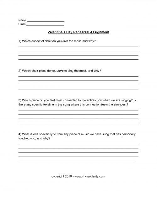 Valentine's Day Assignment