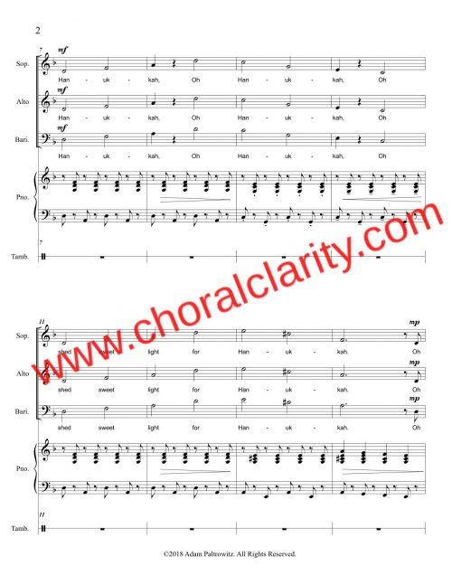 Choral Clarity WatermarkOh Hanukkah SAB-2