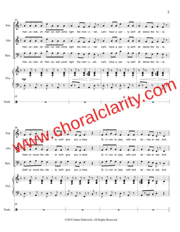Choral Clarity WatermarkOh Hanukkah SAB-3