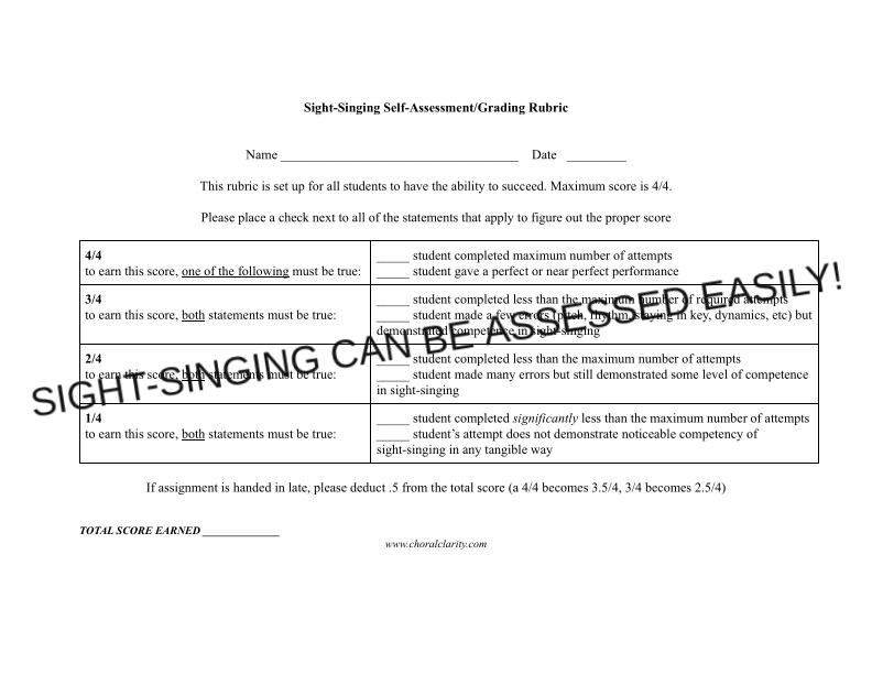 Assigning and Grading Sight-Singing Homework – Made Simple!